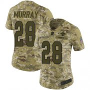 Wholesale Cheap Nike Saints #28 Latavius Murray Camo Women's Stitched NFL Limited 2018 Salute to Service Jersey