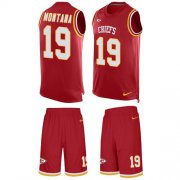 Wholesale Cheap Nike Chiefs #19 Joe Montana Red Team Color Men's Stitched NFL Limited Tank Top Suit Jersey