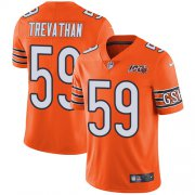 Wholesale Cheap Nike Bears #59 Danny Trevathan Orange Men's 100th Season Stitched NFL Limited Rush Jersey