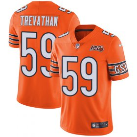 Wholesale Cheap Nike Bears #59 Danny Trevathan Orange Men\'s 100th Season Stitched NFL Limited Rush Jersey