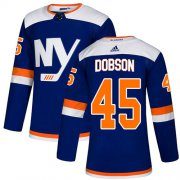 Wholesale Cheap Adidas Islanders #45 Noah Dobson Blue Alternate Authentic Stitched NHL Jersey