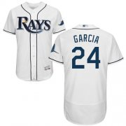 Wholesale Cheap Rays #24 Avisail Garcia White Flexbase Authentic Collection Stitched MLB Jersey