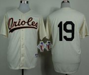 Wholesale Orioles #19 Chris Davis Cream 1954 Turn Back The Clock Stitched Baseball Jersey