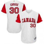 Wholesale Cheap Team Canada #30 Michael Crouse White 2017 World MLB Classic Authentic Stitched MLB Jersey