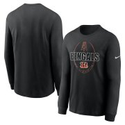Wholesale Cheap Cincinnati Bengals Nike Icon Legend Performance Long Sleeve T-Shirt Black