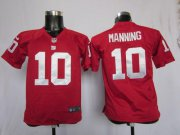 Wholesale Cheap Nike Giants #10 Eli Manning Red Alternate Youth Stitched NFL Elite Jersey