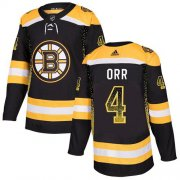 Wholesale Cheap Adidas Bruins #4 Bobby Orr Black Home Authentic Drift Fashion Stitched NHL Jersey