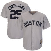 Wholesale Cheap Boston Red Sox #25 Tony Conigliaro Majestic Cooperstown Collection Cool Base Player Jersey Gray