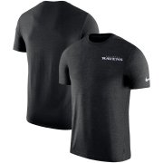 Wholesale Cheap Baltimore Ravens Nike On-Field Coaches UV Performance T-Shirt Black