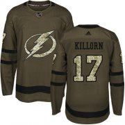 Wholesale Cheap Adidas Lightning #17 Alex Killorn Green Salute to Service Stitched Youth NHL Jersey