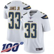 Wholesale Cheap Nike Chargers #33 Derwin James Jr White Men's Stitched NFL 100th Season Vapor Limited Jersey
