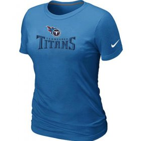 Wholesale Cheap Women\'s Nike Tennessee Titans Authentic Logo T-Shirt L.Blue