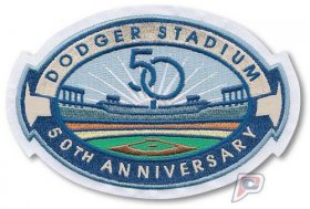 Wholesale Cheap Stitched 2012 Dodgers Stadium 50th Anniversary Jersey Patch