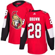 Wholesale Cheap Adidas Senators #28 Connor Brown Red Home Authentic Stitched Youth NHL Jersey
