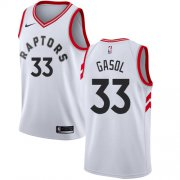 Wholesale Cheap Raptors #33 Marc Gasol White Women's Basketball Swingman Association Edition Jersey