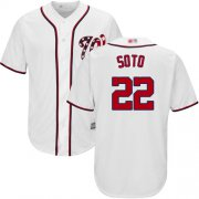 Wholesale Cheap Nationals #22 Juan Soto White New Cool Base Stitched MLB Jersey