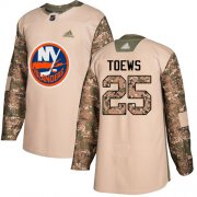 Wholesale Cheap Adidas Islanders #25 Devon Toews Camo Authentic 2017 Veterans Day Stitched NHL Jersey