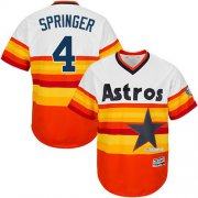 Wholesale Cheap Astros #4 George Springer White/Orange Cooperstown Stitched Youth MLB Jersey