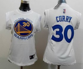 Wholesale Cheap Golden State Warriors #30 Stephen Curry 2014 New White Womens Jersey
