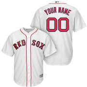 Wholesale Cheap Boston Red Sox Majestic Cool Base Custom Jersey White