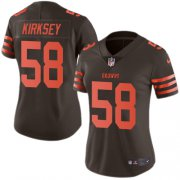 Wholesale Cheap Nike Browns #58 Christian Kirksey Brown Women's Stitched NFL Limited Rush Jersey