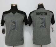 Wholesale Cheap Nike Buccaneers #3 Jameis Winston Gray Women's Stitched NFL Limited Gridiron Gray Jersey