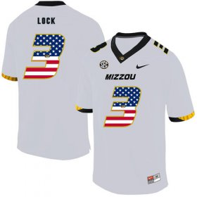 Wholesale Cheap Missouri Tigers 3 Drew Lock White USA Flag Nike College Football Jersey