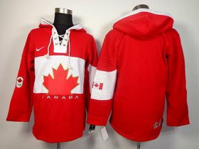 Wholesale Cheap Olympic CA. Blank Red Sawyer Hooded Sweatshirt Stitched NHL Jersey