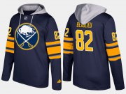 Wholesale Cheap Sabres #82 Nathan Beaulieu Blue Name And Number Hoodie