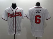 Wholesale Cheap Braves #6 Bobby Cox White Flexbase Authentic Collection Stitched MLB Jersey