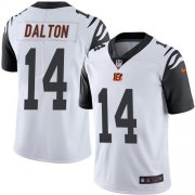 Wholesale Cheap Nike Bengals #14 Andy Dalton White Youth Stitched NFL Limited Rush Jersey