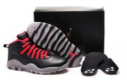 Wholesale Cheap Womens Air Jordan 10 Shoes Black/grey-red