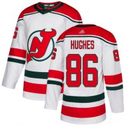 Wholesale Cheap Adidas Devils #86 Jack Hughes White Alternate Authentic Stitched NHL Jersey