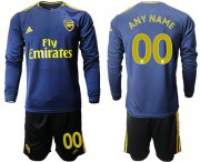Wholesale Cheap Arsenal Personalized Blue Long Sleeves Soccer Club Jersey