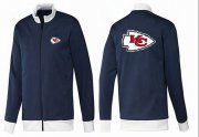 Wholesale NFL Kansas City Chiefs Team Logo Jacket Dark Blue