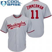 Wholesale Cheap Nationals #11 Ryan Zimmerman Grey Cool Base Stitched Youth MLB Jersey