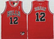 Wholesale Cheap Chicago Bulls #12 Michael Jordan Red Swingman Jersey