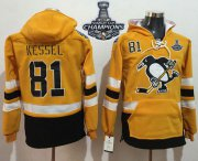 Wholesale Cheap Penguins #81 Phil Kessel Gold Sawyer Hooded Sweatshirt 2017 Stadium Series Stanley Cup Finals Champions Stitched NHL Jersey
