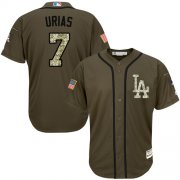 Wholesale Cheap Dodgers #7 Julio Urias Green Salute to Service Stitched MLB Jersey