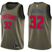 Wholesale Cheap Nike Pistons #32 Christian Laettner Green Salute to Service NBA Swingman Jersey