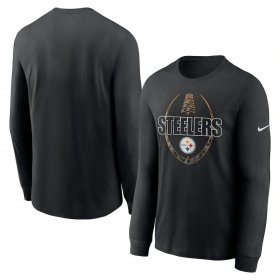 Wholesale Cheap Pittsburgh Steelers Nike Icon Legend Performance Long Sleeve T-Shirt Black