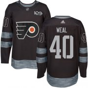 Wholesale Cheap Adidas Flyers #40 Jordan Weal Black 1917-2017 100th Anniversary Stitched NHL Jersey