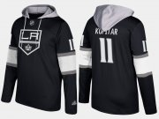 Wholesale Cheap Kings #11 Anze Kopitar Black Name And Number Hoodie