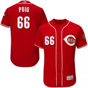 Wholesale Cheap Reds #66 Yasiel Puig Red Flexbase Authentic Collection Stitched MLB Jersey