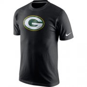 Wholesale Cheap Nike Green Bay Packers Fast Logo T-Shirt Black