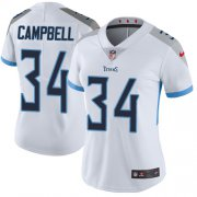 Wholesale Cheap Nike Titans #34 Earl Campbell White Women's Stitched NFL Vapor Untouchable Limited Jersey