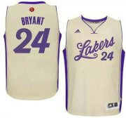 Wholesale Cheap Men's Los Angeles Lakers #24 Kobe Bryant Revolution 30 Swingman 2015 Christmas Day White Jersey