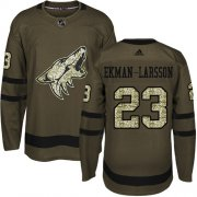 Wholesale Cheap Adidas Coyotes #23 Oliver Ekman-Larsson Green Salute to Service Stitched Youth NHL Jersey