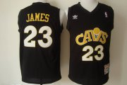 Wholesale Cheap Cleveland Cavaliers #23 LeBron James CavFanatic Black Swingman Throwback Jersey