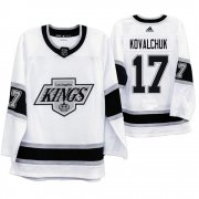 Wholesale Cheap Los Angeles Kings #17 Ilya Kovalchuk Men's Adidas 2019-20 Heritage White Throwback 90s NHL Jersey